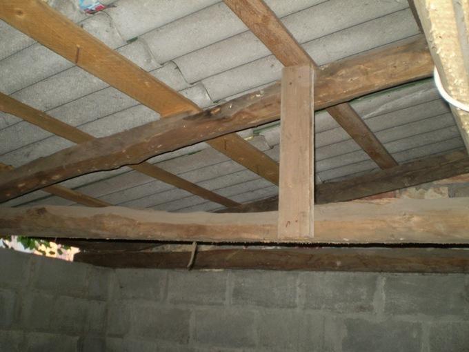 Крыша и перекрытие в гараже