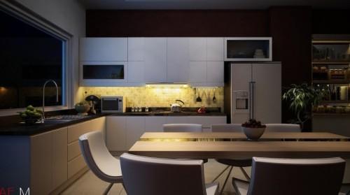 Универсальный дизайн от Хьеу Нгуен. Стильная кухня