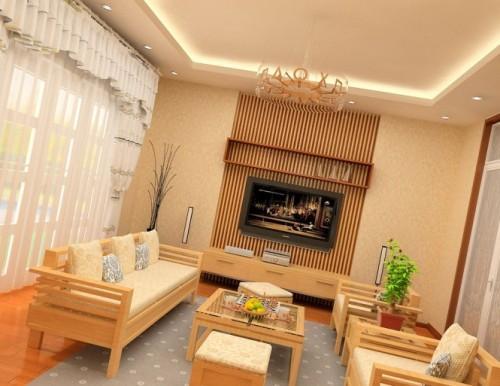 Универсальный дизайн от Хьеу Нгуен. Гостиная с деревянной мебелью