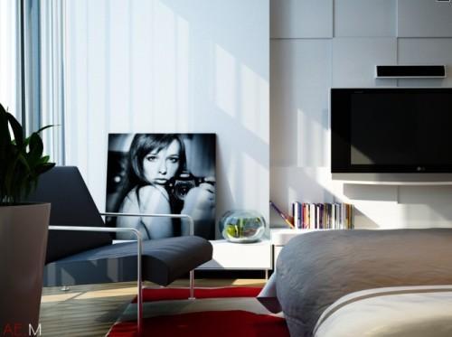 Универсальный дизайн от Хьеу Нгуен. Спальня с картиной