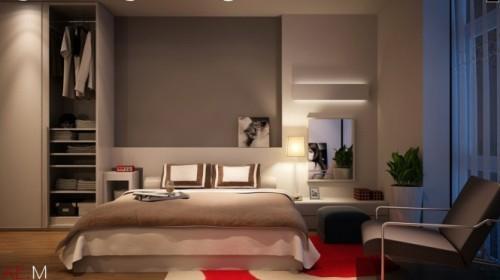 Универсальный дизайн от Хьеу Нгуен. Спальня в светлых тонах