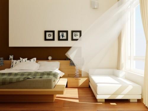 Универсальный дизайн от Хьеу Нгуен. Спальня с открытым окном