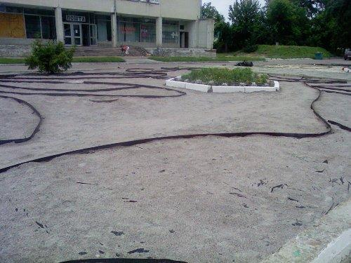 Устройство клумбы в г. Березань