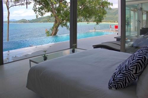Вилла Чи в Таиланде. Спальня с видом на океан