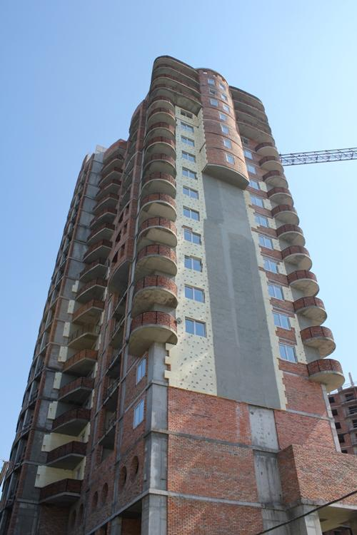Строительство высотки в Борисполе