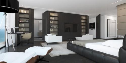 Спальня объединенная с кабинетом