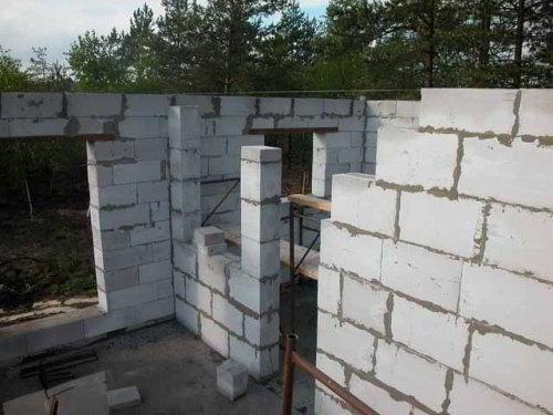 Строительство дома с пеноблока