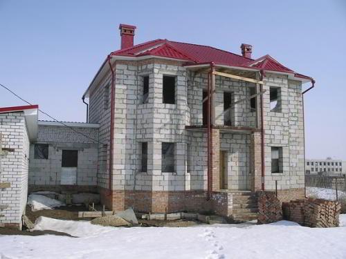 Дом с пеноблока