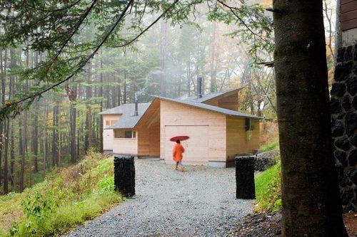 Коттеджный дом в лесу
