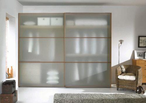 Большой шкаф-купе с полупрозрачными дверками