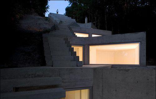 Ночной дом в горах