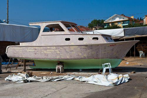 Покраска лодки