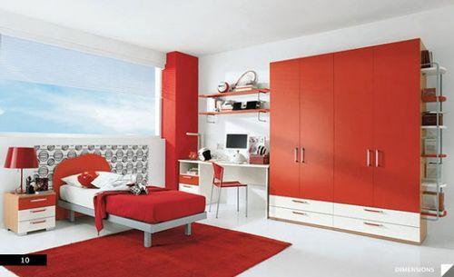 красная комната для детей