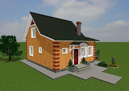 Проект дома вид 1