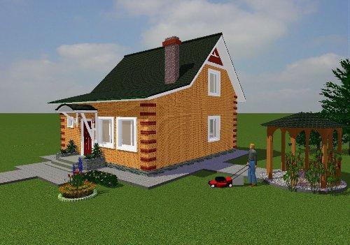 Проект дома вид 2