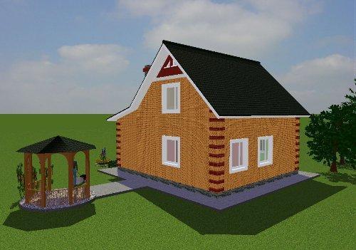 Проект дома вид 3