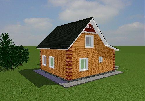 Проект дома вид 4
