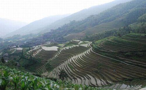 Террасы на склонах в Китае