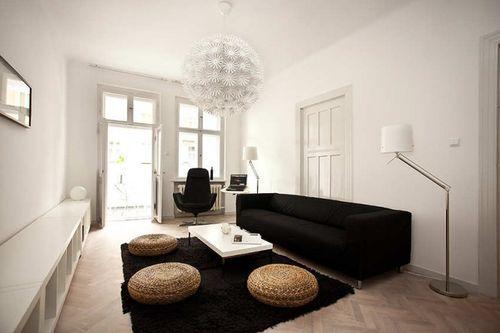 Стильная гостиная в маленькой квартире