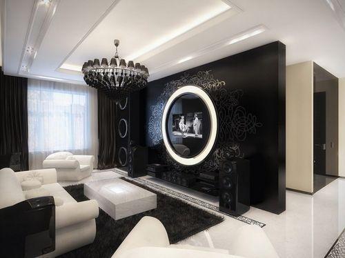 Гостиная с белой мебелью