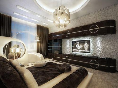 Большая спальня в старинном стиле