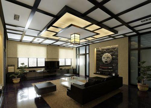 Японский стиль интерьера в гостиной