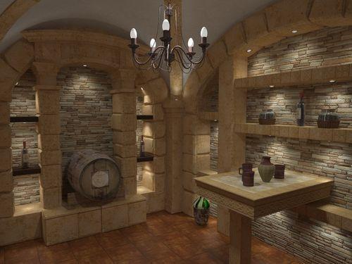 Проект винного погреба в подвале