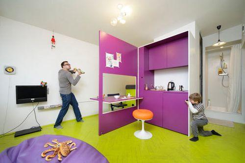 Маленькая квартира с раскладной мебелью