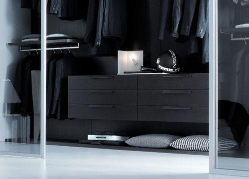 Дизайн темного гардероба