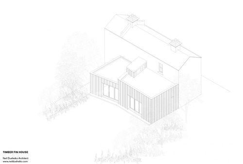 Проект деревянной достройки к дому