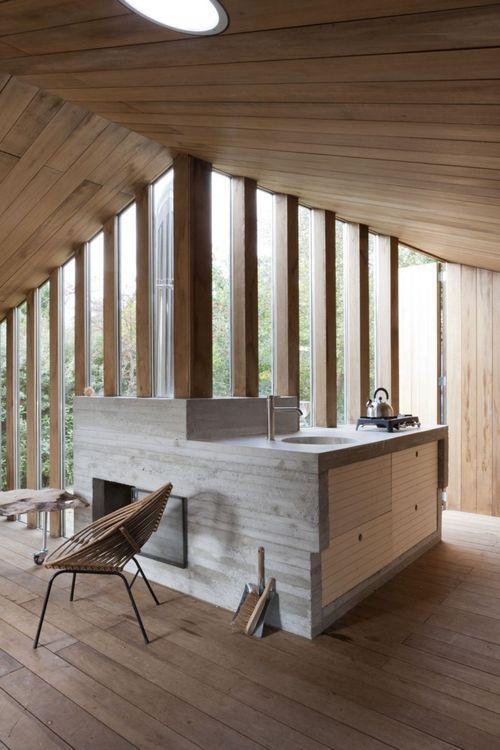 кухонная зона в дачном доме