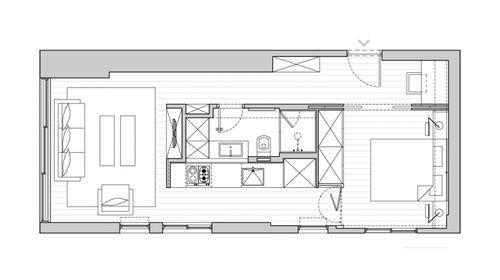План маленькой однокомнатной квартиры