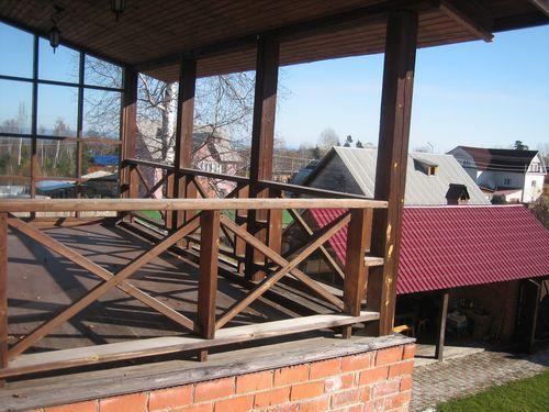 большой балкон на даче