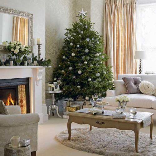 Новогодний интерьер в уютном доме