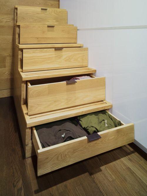 Шкафчики в лестнице