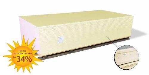 Теплоизоляционная гипсокартонная плита
