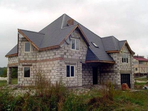 Частный дом из пеноблоков