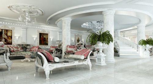 Старинный интерьер гостиной