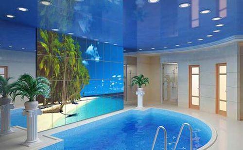 Керамическая фотоплитка в бассейне