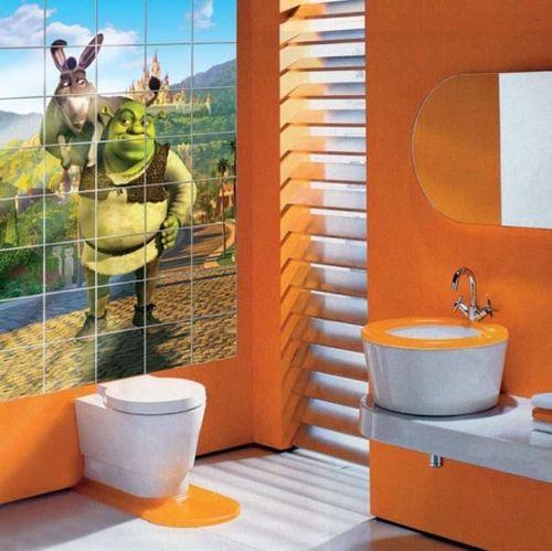 Керамическая фотоплитка в ванной