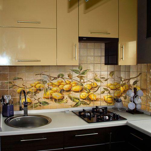 Керамическая фотоплитка в кухне