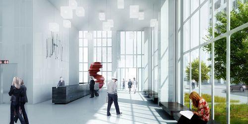 Дизайн интерьера небоскреба