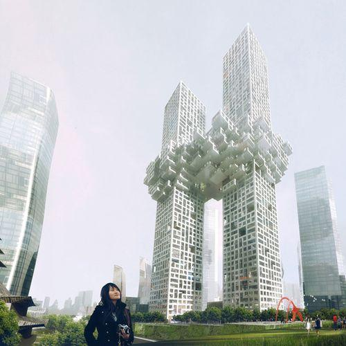 Пиксельные небоскребы
