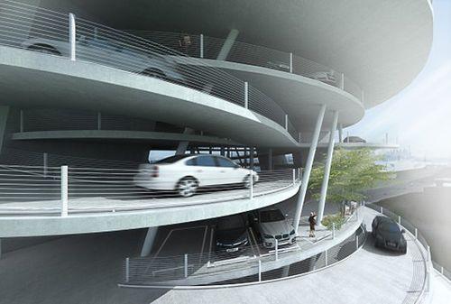 автомобильная парковка в Гонконге