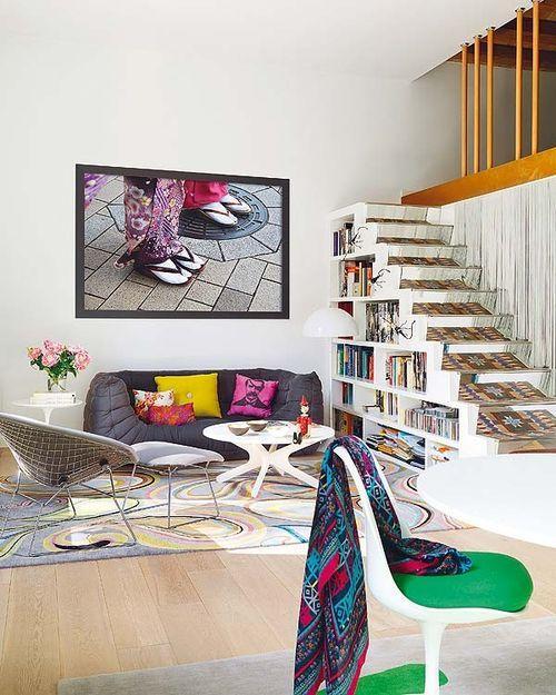 Яркий интерьер дома в Барселоне