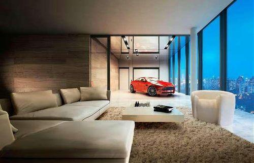 машина в гостиной