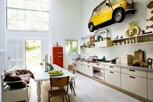 Пол авто в кухни