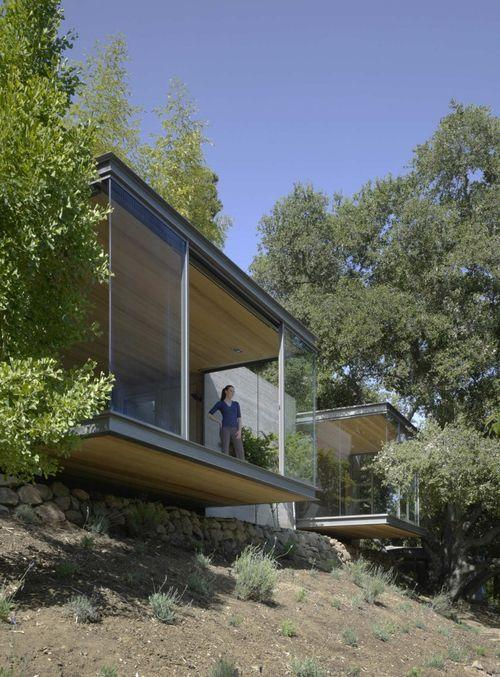 Дом из стекла и металла