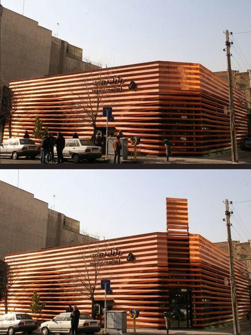 Медный фасад для отделения Mellat Bank