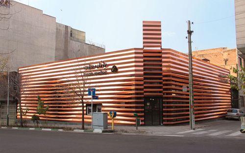 Фасад для отделения Mellat Bank